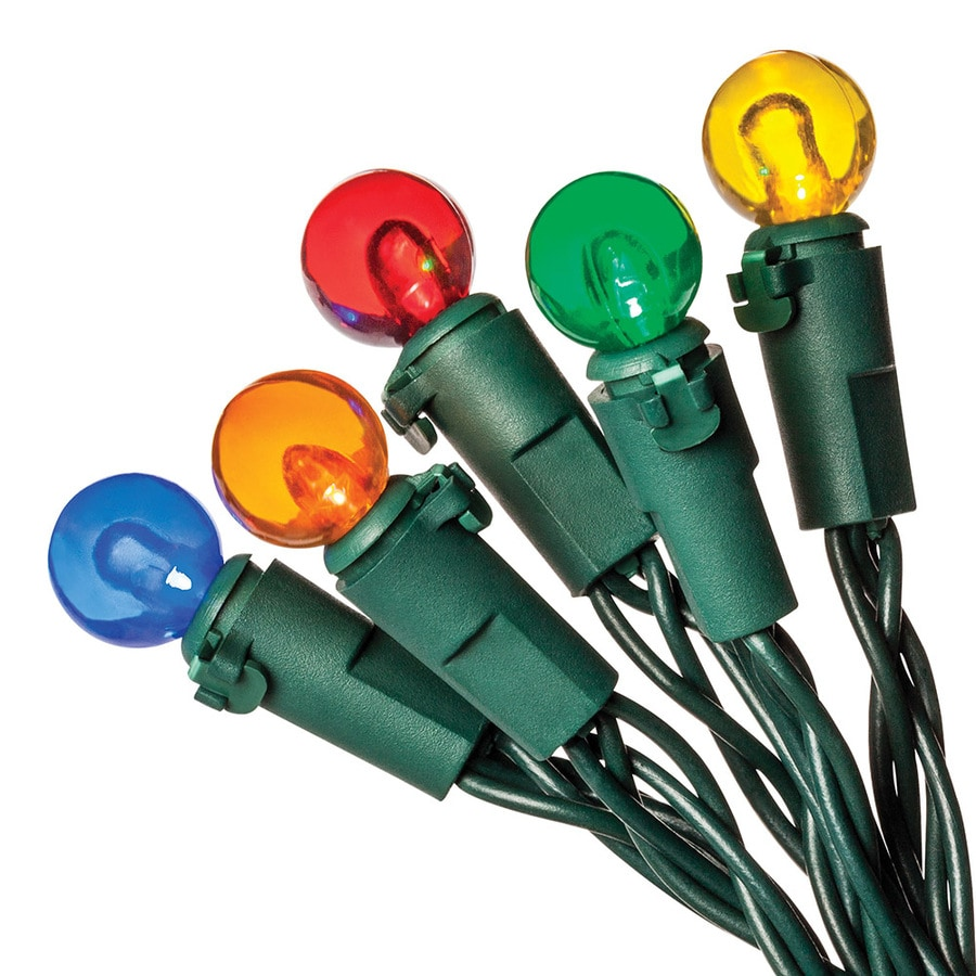 Holiday Living 35-Count 11.3-ft Constant Multicolor Globe LED Battery-Operated Indoor/Outdoor Christmas String Lights