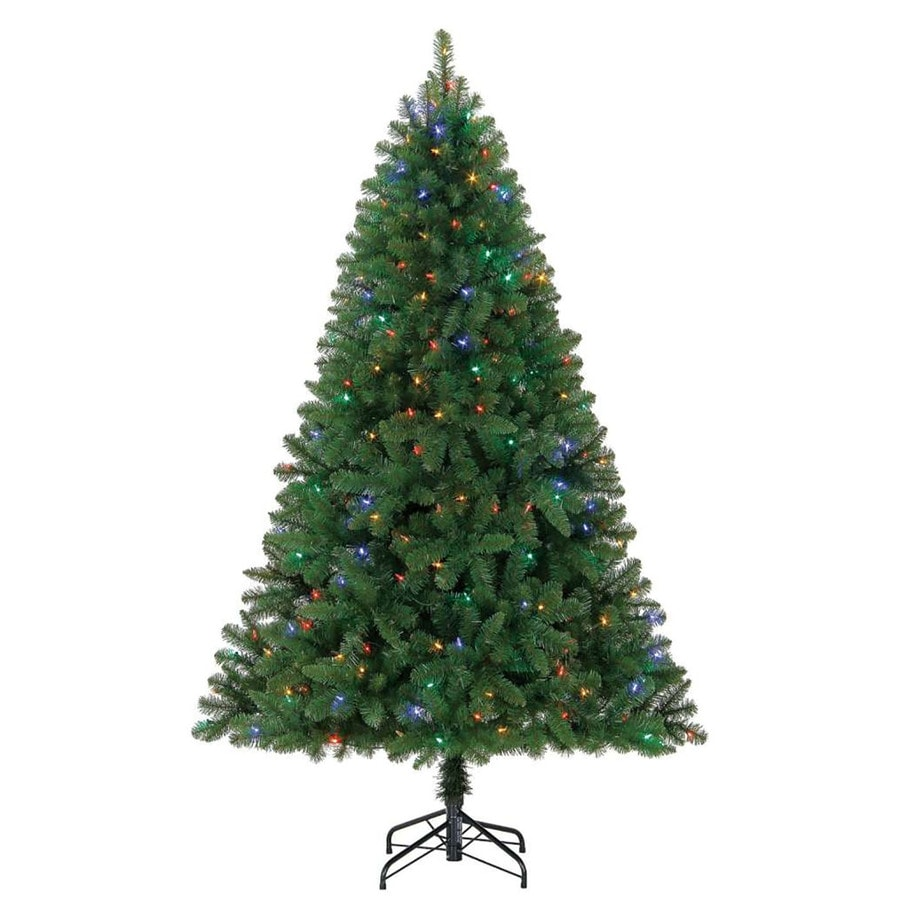 6 5 ft pre lit seneca pine artificial christmas tree with color changing led lights 66 w fs. Black Bedroom Furniture Sets. Home Design Ideas