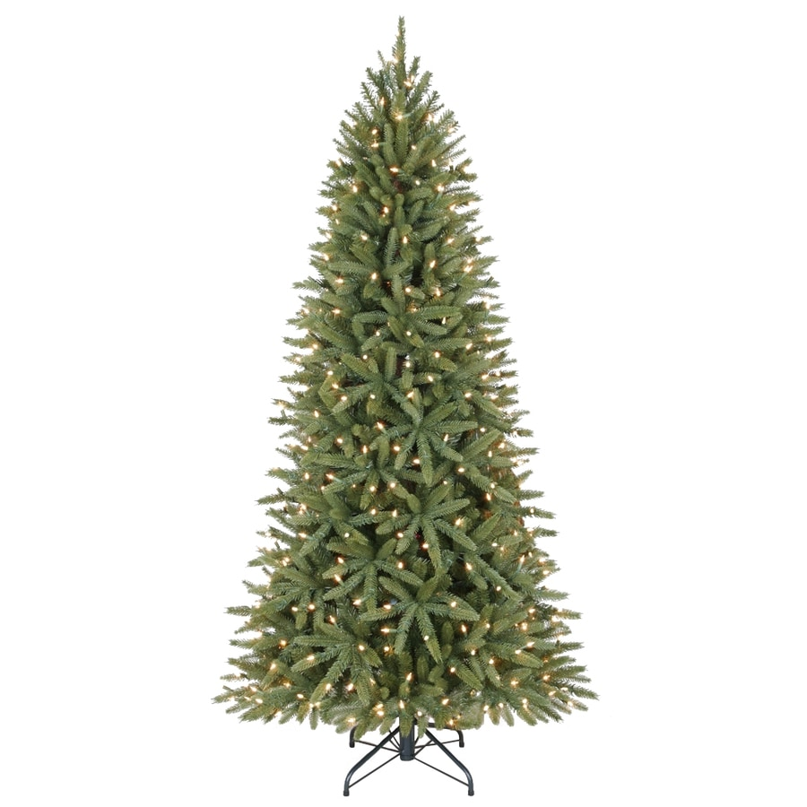 Holiday Living 6.5-ft Pre-Lit Walden Pine Artificial Christmas Tree with White Clear Incandescent Lights