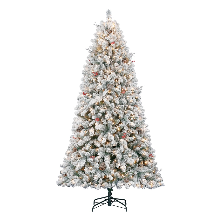 Shop Holiday Living 7.5-ft 1,135-Count Pre-Lit Preston Pine ...