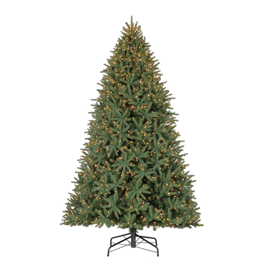 Shop Holiday Living 9-ft Pre-Lit Mckinney Fir Artificial Christmas ...