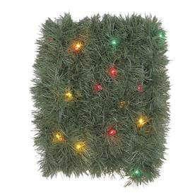 holiday living indooroutdoor pre lit 18 ft soft pine garland with multicolor