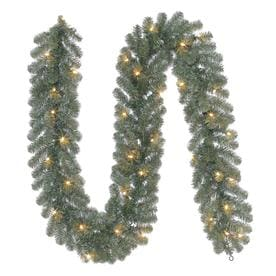 Holiday Living Indoor/Outdoor Pre Lit 9 Ft L Pine Garland With White