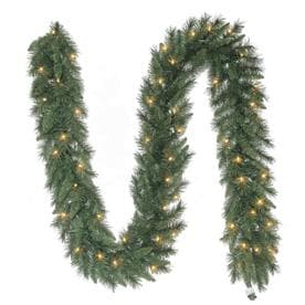 holiday living indooroutdoor pre lit 9 ft pine garland with white incandescent - Artificial Christmas Trees Lowes