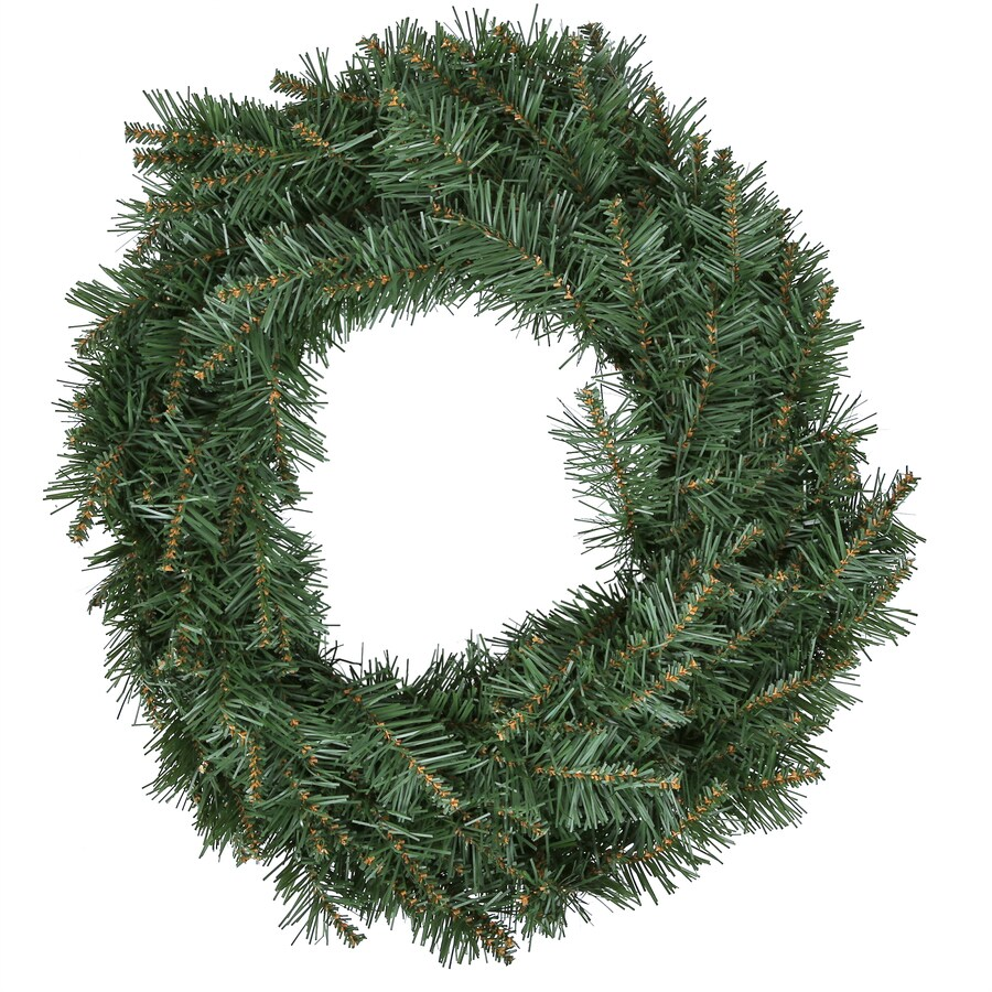 Holiday Living 24-in Indoor/Outdoor Green Monroe Pine Artificial Christmas Wreath