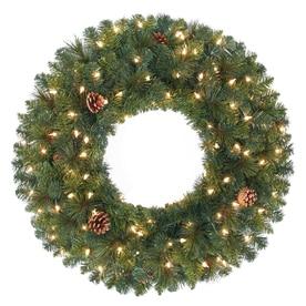 Shop Artificial Christmas Wreaths At Lowes Com - Christmas Wreath Lights