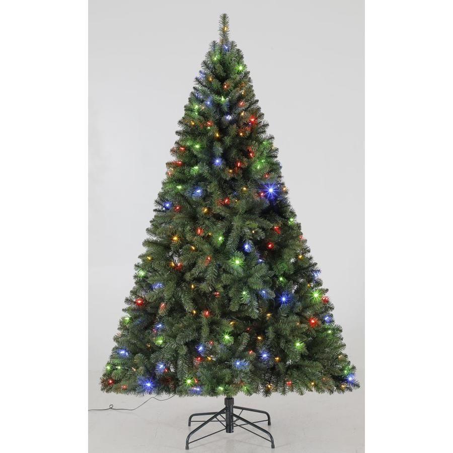 Shop Holiday Living 6.5-ft Pre-lit Seneca Pine Artificial Christmas ...