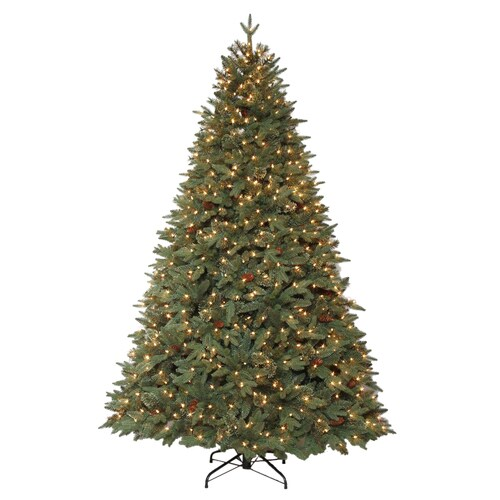 Holiday Living 7.5-ft Pre-Lit Hayden Pine Artificial ...