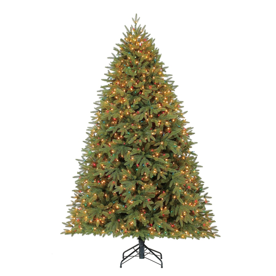 Holiday Living 7.5-ft Pre-lit Artificial Christmas Tree with 1200 Constant Multicolor Clear Incandescent Lights