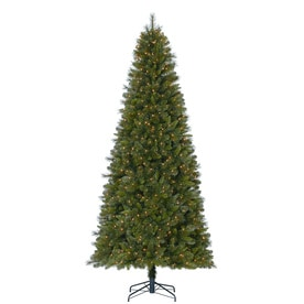 holiday living 9 ft pre lit robinson fir artificial christmas tree with 700 constant - Lowes White Christmas Tree