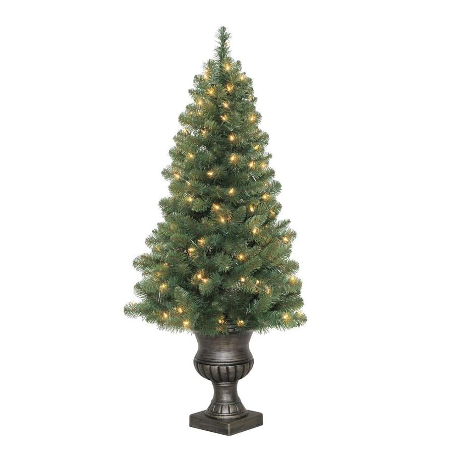 holiday living 4 ft pre lit arctic pine artificial christmas tree with 100 constant - 4 Foot White Christmas Tree