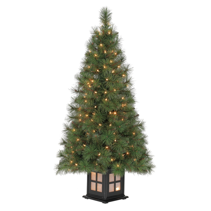 White 4 Foot Christmas Tree: Shop Holiday Living Scott Pine Artificial Christmas