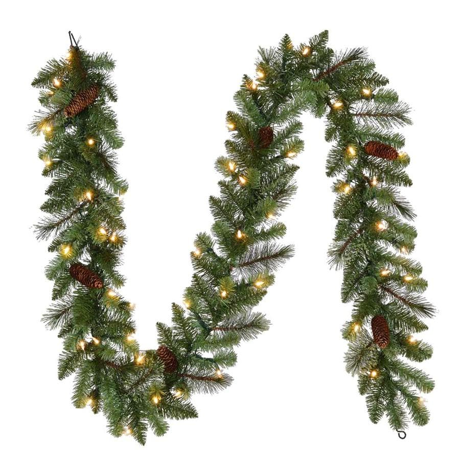 Holiday Living Indoor Outdoor Pre Lit 9 Ft Pine Garland With Color Changing Led Lights