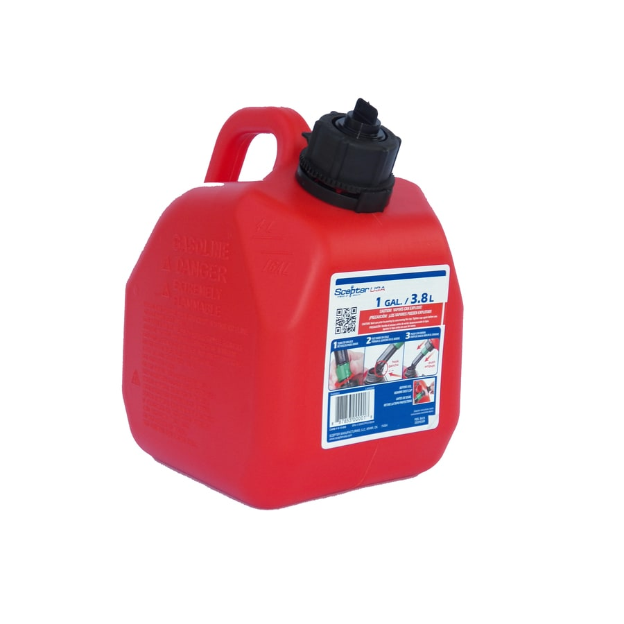 Plastic Gas Cans >> 1 Gallon Plastic Gasoline Can At Lowes Com