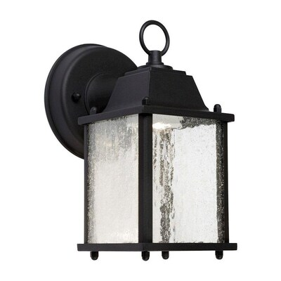 H Black Led Outdoor Wall Light At Lowes
