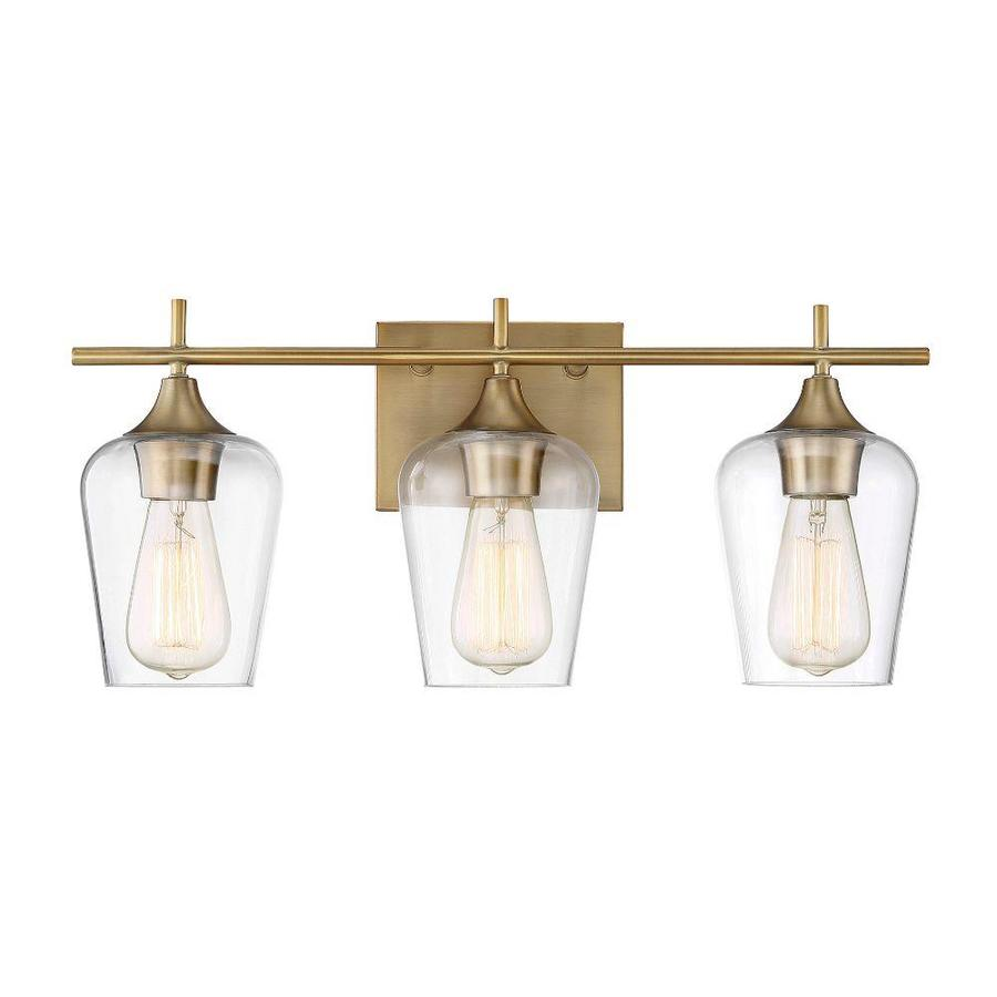 3 Light Brass Transitional Vanity Light In The Vanity Lights Department At Lowes Com