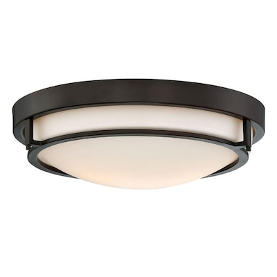 13 In Oil Rubbed Bronze Transitional Incandescent Flush Mount Light In The Flush Mount Lighting Department At Lowes Com