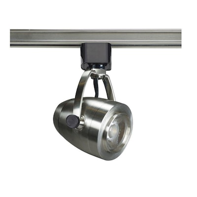 1 Light Dimmable Brushed Nickel Flat Back Flexible Track