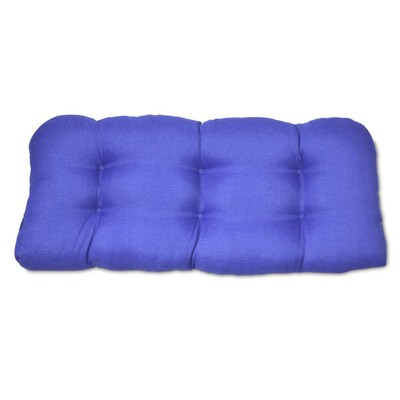 Plantation Patterns Cobalt Dobby Patio Chair Cushion at ...