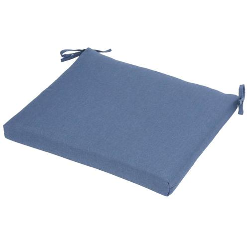 Plantation Patterns Medium Blue Patio Chair Cushion at ...