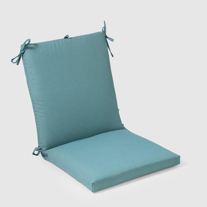 Plantation Patterns Turquoise Patio Chair Cushion in the ...