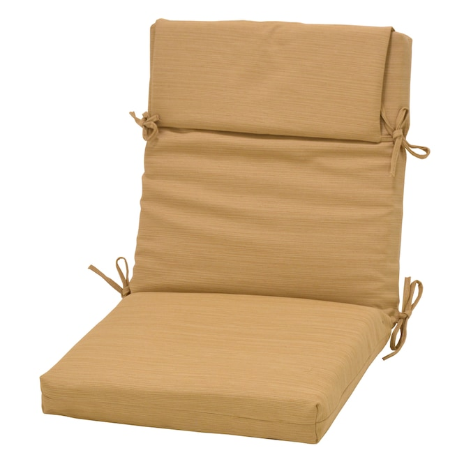 Plantation Patterns Allen + Roth Wheat Patio Chair Cushion ...