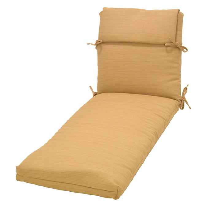 Plantation Patterns Allen + Roth Wheat Patio Chaise Lounge ...