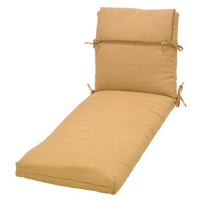 Phenomenal Wheat Wheat Patio Chaise Lounge Chair Cushion Short Links Chair Design For Home Short Linksinfo