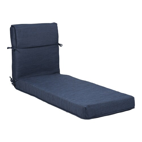 Chaise Lounge Chair.Plantation Patterns Navy Patio Chaise Lounge Chair Cushion At