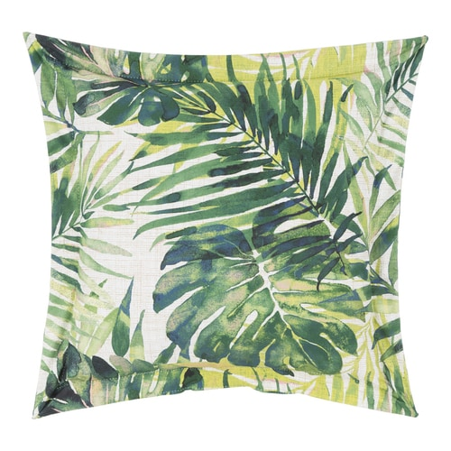 Allen Roth Allen Roth Graphic Print Kayan Leaf Citrine Square Throw Pillow In The Outdoor Decorative Pillows Department At Lowes Com