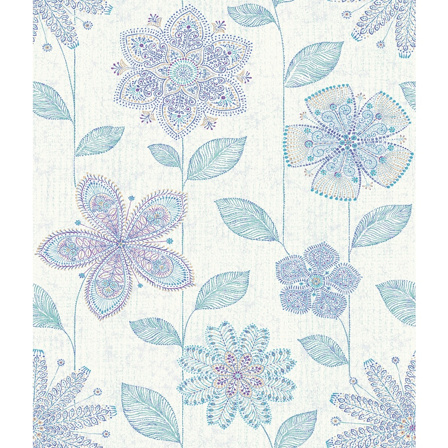 Brewster Wallcovering Indigo Classic Floral Wallpaper