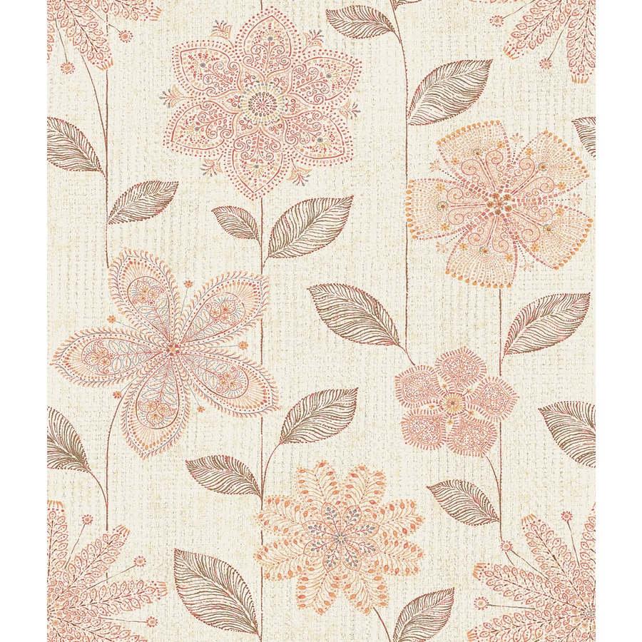 Brewster Wallcovering Coral Classic Floral Wallpaper