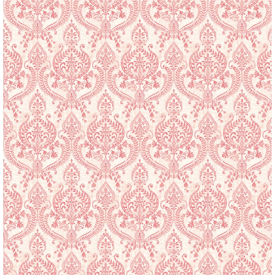 Brewster Wallcovering Red Classic Damask Wallpaper