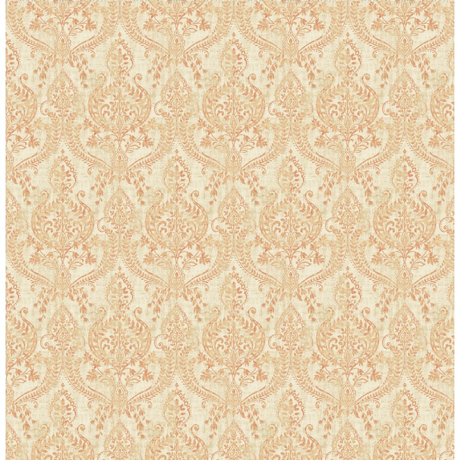 Brewster Wallcovering Kismet Rust Non-Woven Damask Wallpaper
