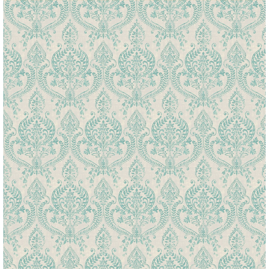 Brewster Wallcovering Turquoise Classic Damask Wallpaper