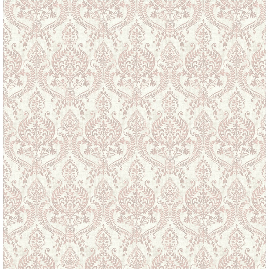 Brewster Wallcovering Kismet 56-sq ft Mauve Non-Woven Damask  Wallpaper