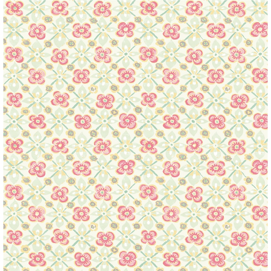 Brewster Wallcovering Kismet Pink Non-Woven Floral Wallpaper