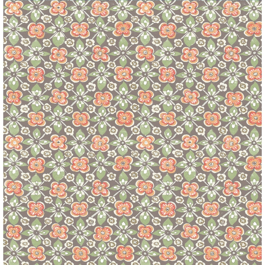 Brewster Wallcovering Coral Paper Floral Wallpaper