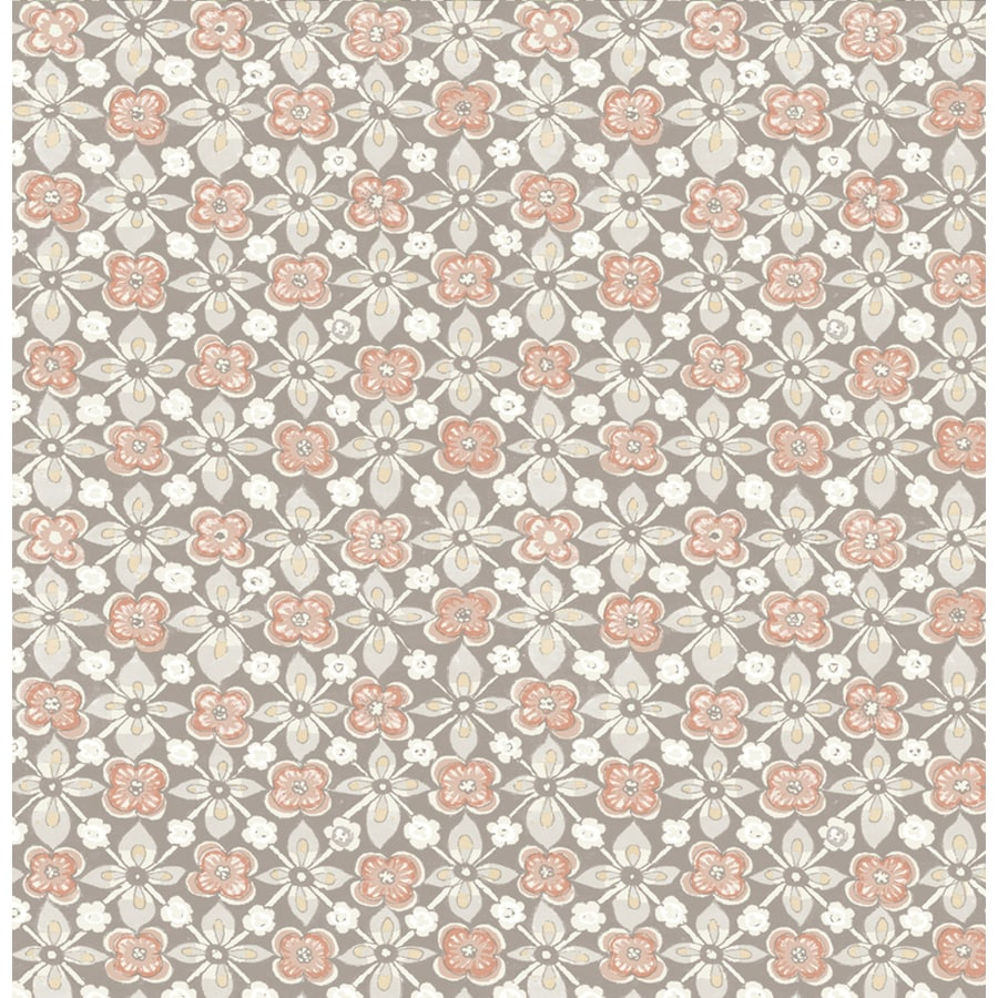 Brewster Wallcovering Kismet 56-sq ft Grey Non-Woven Floral  Wallpaper