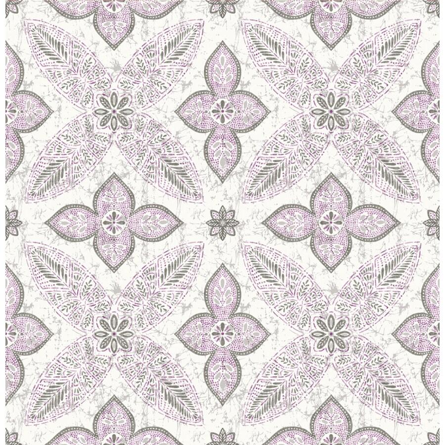 Brewster Wallcovering Violet Paper Floral Wallpaper