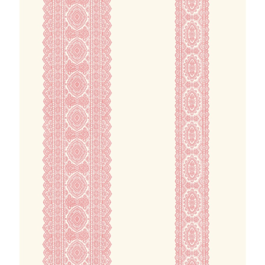Brewster Wallcovering Kismet Pink Non-Woven Stripes Wallpaper