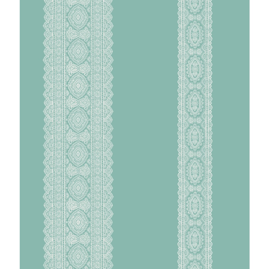 Brewster Wallcovering Kismet Turquoise Non-Woven Stripes Wallpaper