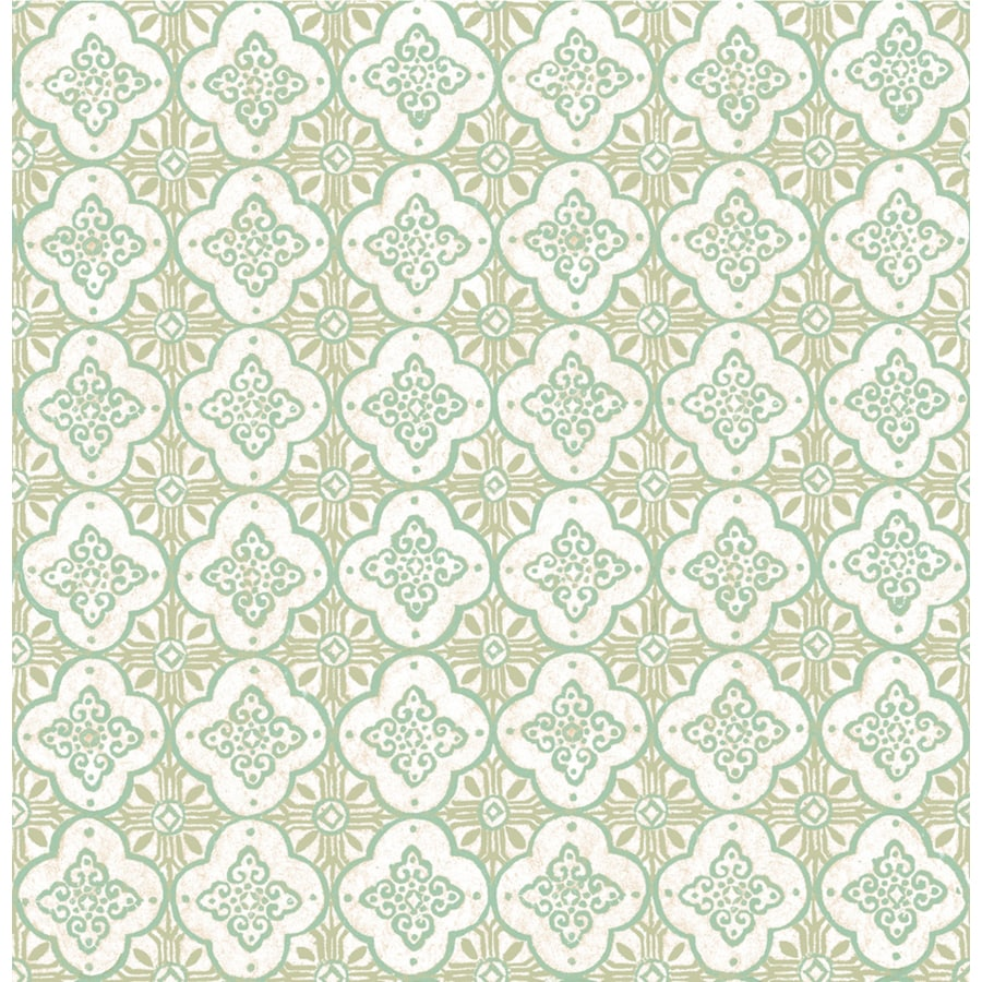 Brewster Wallcovering Kismet Green Non-Woven Geometric Wallpaper