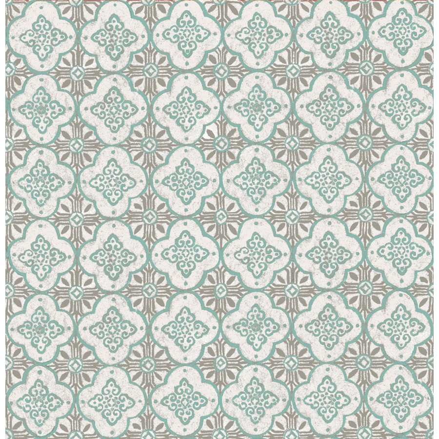 Brewster Wallcovering Kismet Turquoise Non-Woven Geometric Wallpaper