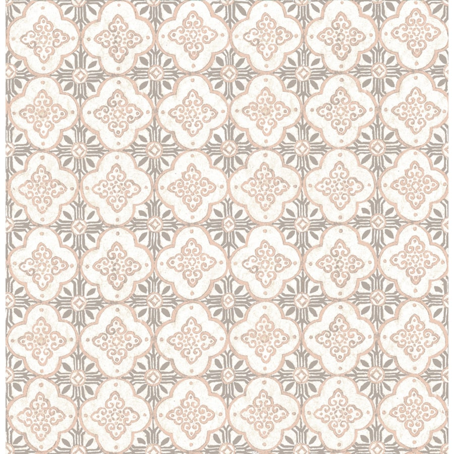 Brewster Wallcovering Pink Paper Geometric Wallpaper