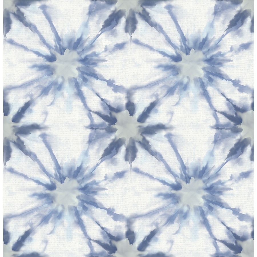 Brewster Wallcovering Kismet Indigo Non-Woven Geometric Wallpaper