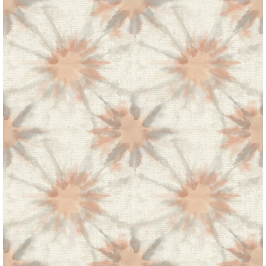 Brewster Wallcovering Kismet Coral Non-Woven Geometric Wallpaper