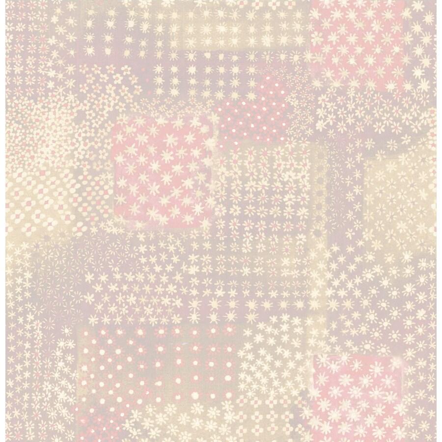 Brewster Wallcovering Pink Paper Floral Wallpaper
