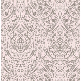 Wander Yellow Damask Wallpaper Kizmet