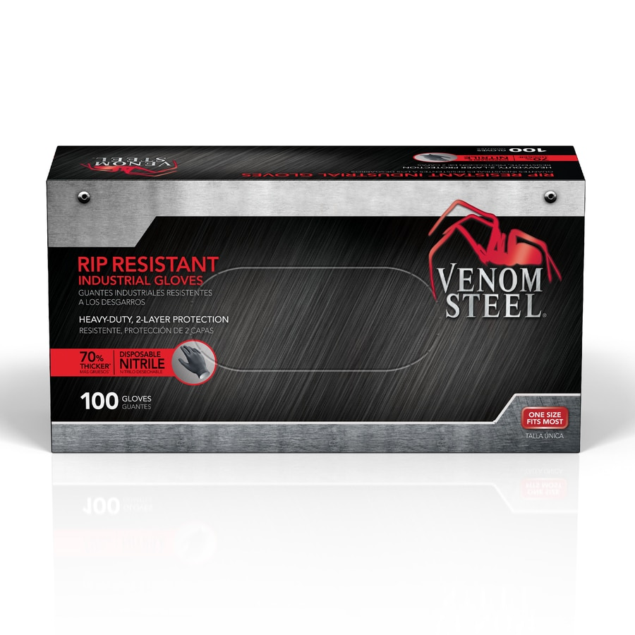 Venom Steel 100-Count One Size Fits All Nitrile Cleaning Gloves